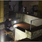 {barganews} Barga at night - Painting in the dark - Richard Clare